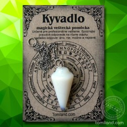 Jednoduché kyvadlo vyrobené z opálu.