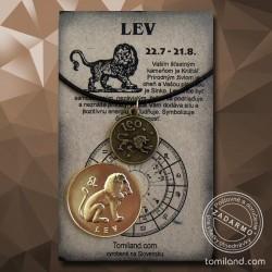 Prívesok a minca Lev.