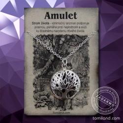 Strieborný prívesok - amulet strom života.