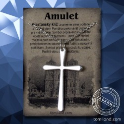 Prívesok kresťanský kríž s retiazkou.