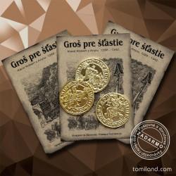 Tri zlaté groše pre šťastie - darček.