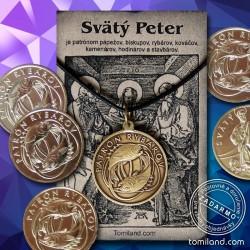 Apoštol Peter - zadná strana prívesku.