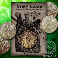 Prívesok Svätý Urban a ligotava minca pre vinára.