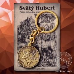 Kľúčenka svätého Huberta určená pre poľovníka.