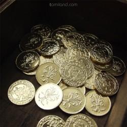 Zlaté mince pre šťastie.